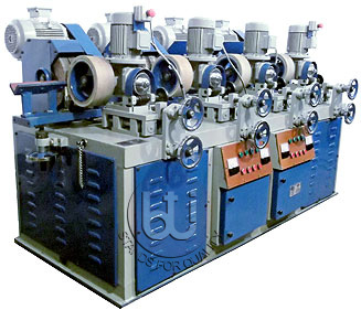 Four Head Round  Steel Pipe polishing and Buffing machine BTI-RP-4H